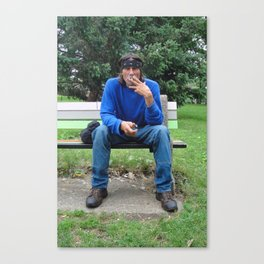 Smoker; Southside, Minneapolis, 2013. Canvas Print