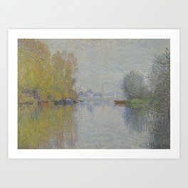 Autumn on the Seine, Argenteuil Art Print