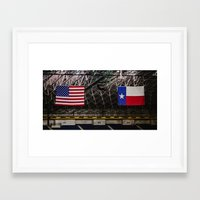 texas Framed Art Prints featuring Texas by Chee Sim