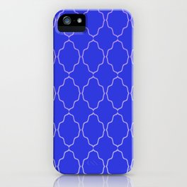Diamond Grid Royal Blue iPhone Case