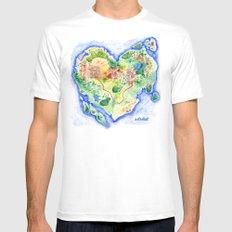 Island of Love MEDIUM White Mens Fitted Tee