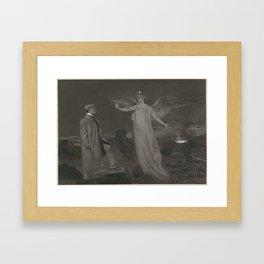 Chamberlain and the Angel of Peace, Johan Braakensiek, 1868 - 1940 Framed Art Print