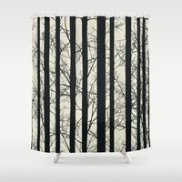 naked Shower Curtains featuring Naked forest by Rceeh