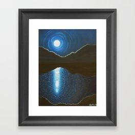 glow of the moon Framed Art Print