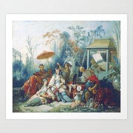 Le Jardin Chinois by François Boucher Art Print