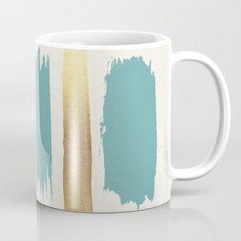 Brush Strokes (Teal/Gold) Coffee Mug