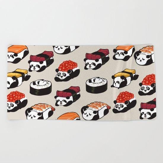 Sushi Panda Beach Towel
