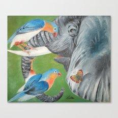 1.Elephant fantasy (blue) Canvas Print