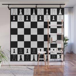 Chess Board Layout Wall Mural