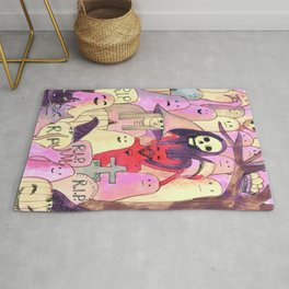 scary party funny pattern Rug