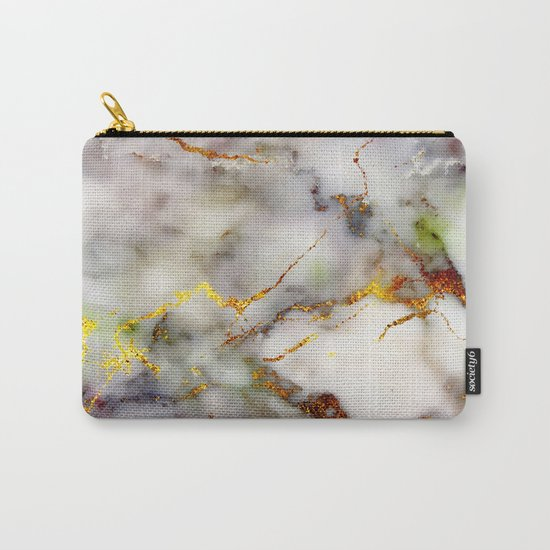 Marble Effect #5 Carry-All Pouch