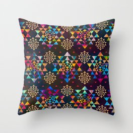 Sri Yantra  pattern - color and gold #1 Throw Pillow
