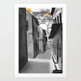 Lanes of Punjab Art Print