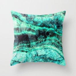 Turquoise onyx marble Throw Pillow