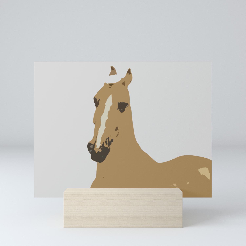 Abstract Palomino Horse Mini Art Print By Someotherness Society6