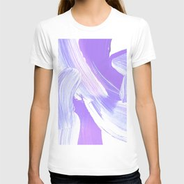 Shades of Purple Brush Stroke pattern #abstractart T-shirt
