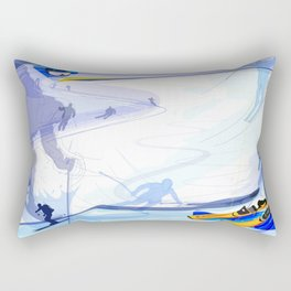 Downhill Skiing Rectangular Pillow