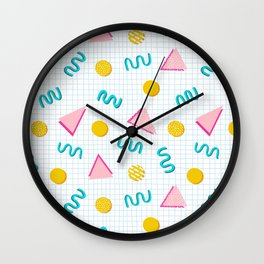 Geometric Memphis Wall Clock