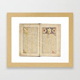Muhammad Quli Mirza (d.1844), Diwan, Persia, Qajar, signed by Khalil al-Sarawi, dated 1240 AH 1824-2 Framed Art Print