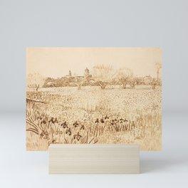 Vincent van Gogh - View of Arles (1888) Mini Art Print
