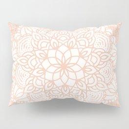 Seashell Mandala Coral Pink and White by Nature Magick Pillow Sham
