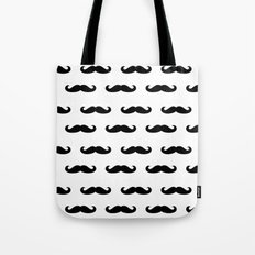Simple Mustache Tote Bag