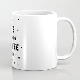 Text Art LIFE HAPPENS COFFEE HELPS Coffee Mug