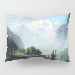Staubbach Falls Near Lauterbrunnen Switzerland By Albert Bierstadt | Reproduction Painting Pillow Sham