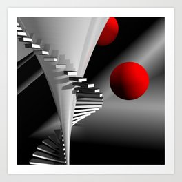 go upstairs -2- Art Print