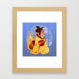 Silly Bestiary :Kitsune Framed Art Print