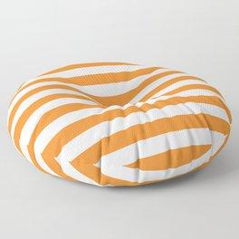 Horizontal Orange Stripes Floor Pillow