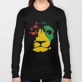 Jamaica Lion Mens Reggae Jamaican Bob Music Jamaica T-Shirts Long Sleeve T-shirt