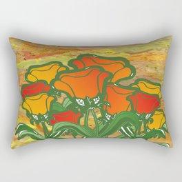 Big Flower - Rust Rectangular Pillow