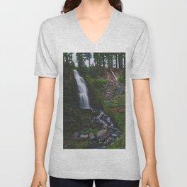 Obsidian Falls - Pacific Crest Trail, Oregon Unisex V-Neck
