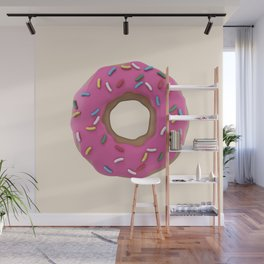 Who Wants a Donut - Pink & Tan Wall Mural