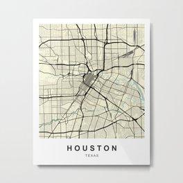 Houston Texas HawaII Vietnam City Map Metal Print
