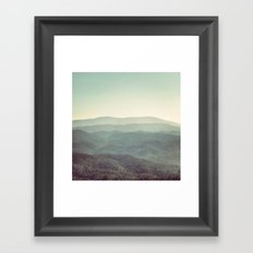 Mountain View Framed Art Print