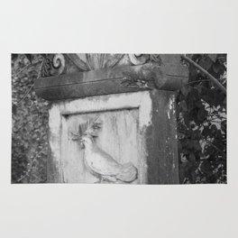 rooster grave Rug