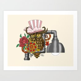Mrs. Steam Art Print