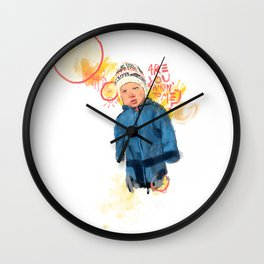 Kids with attitudes Wall Clock