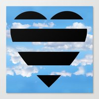 moschino Canvas Prints featuring Moschino Heart by cvrcak
