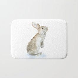 Bunny Rabbit Watercolor Bath Mat