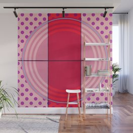 August - dot graphic Wall Mural