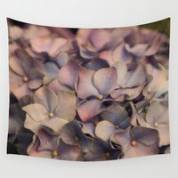 hydrangea Wall Tapestries featuring Hydrangea by Pia Spieler