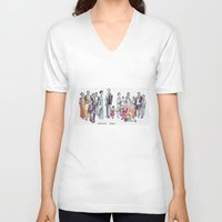 downton abbey V-neck T-shirts featuring Downton Abbey by Yvette