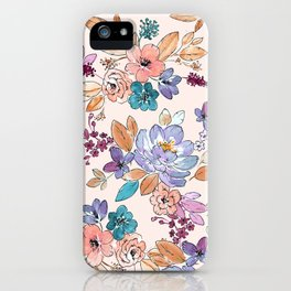 Boho floral iPhone Case