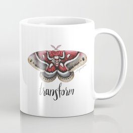 Moth - HYALOPHORA GLOVERI - Glover's silk moth | Painting | Watercolour | Insect Coffee Mug