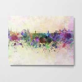 Budapest skyline in watercolor background Metal Print
