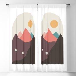 Cat Landscape 97 Blackout Curtain