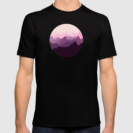 Mountains in Pink Fog T-shirt